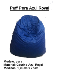 Puff Pera Azul Royal